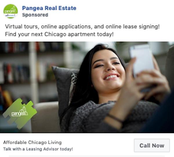facebook click to call Reach Call Ad Example