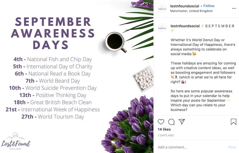 september marketing ideas national days