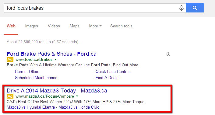 bad adwords ads