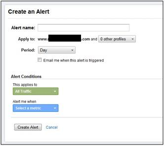 Create Custom Alert - Analytics Intelligence