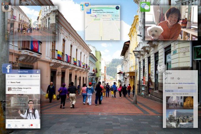 Google contact lens augmented reality concept