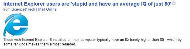 Internet Explorer Hoax