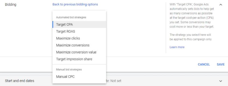 Google ads grants bidding