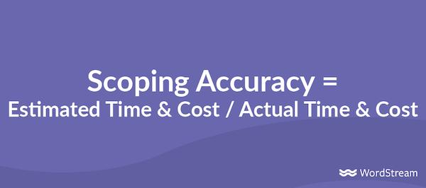 agency profitability metrics scoping accuracy