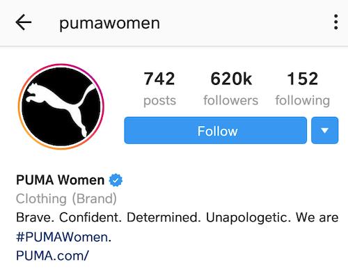 best instagram bios puma women