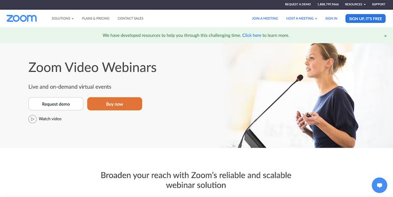 best webinar platforms 2020 zoom