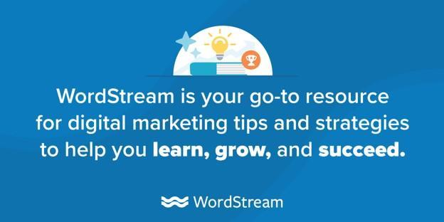 WordStream's content marketing mission statement