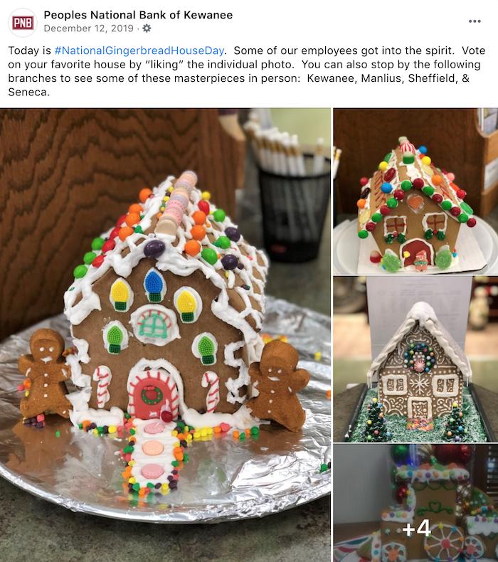 december marketing ideas - gingerbread house day