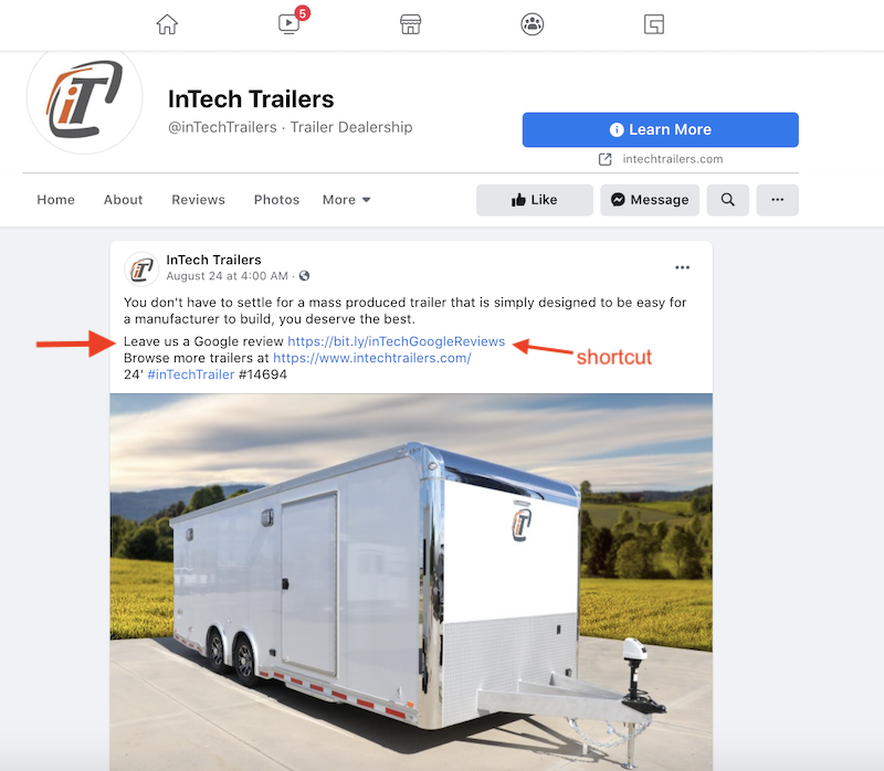 get more google reviews post on facebook