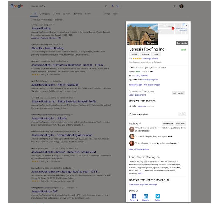 get set up for google my business success business profile like website