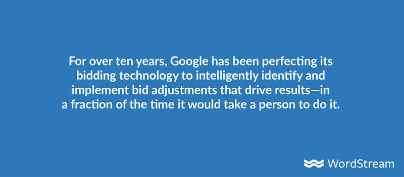 google automated bidding intelligence