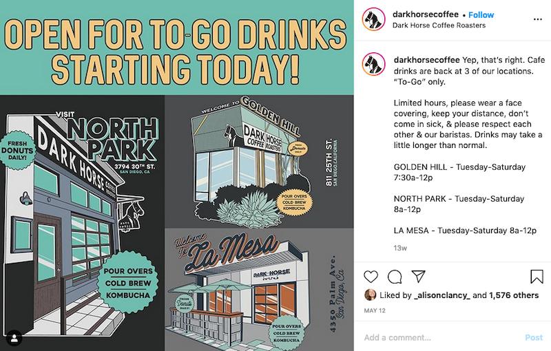 inspiring instagram accounts to follow now covid DarkHorse - Coffee