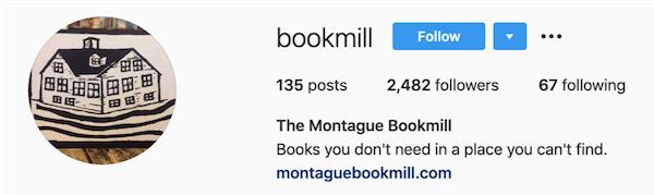 instagram bios bookmill