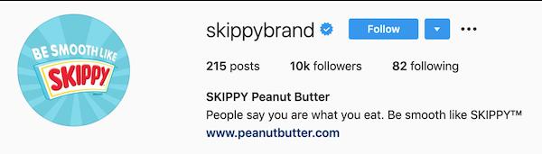 instagram bios skippy