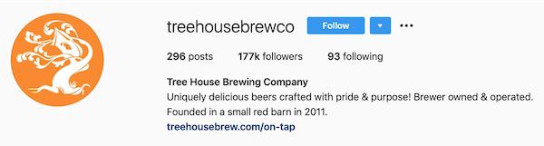 instagram bios tree house brewing co