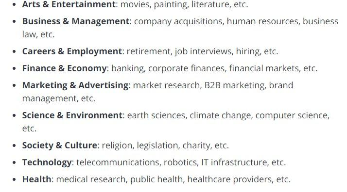 LinkedIn interest targeting options