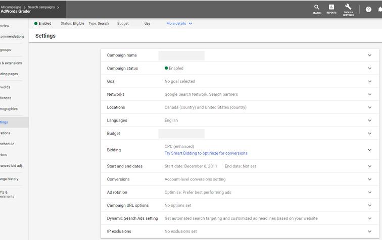 Google Ads account setting updates