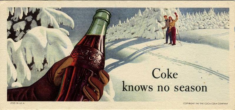Coke knows no seasons ad