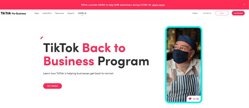 reasons to advertise on tik tok back to business program