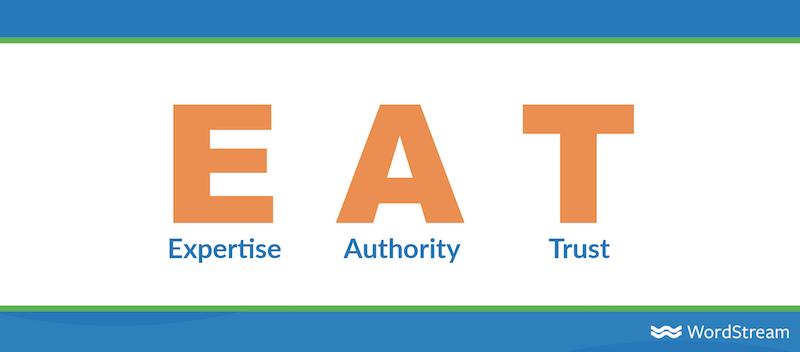 seo trends for 2021 google EAT