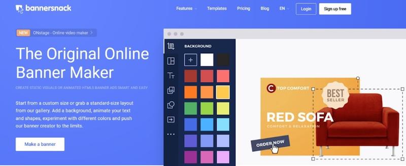 visual marketing tools bannersnack banner maker