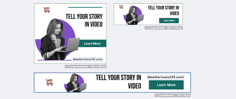 visual marketing tools bannersnack cusotmized templates