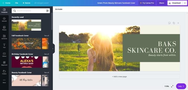 visual marketing tools canva templates