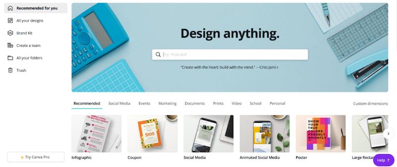 visual marketing tools canva