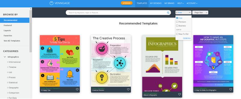 visual marketing tools venngage templates