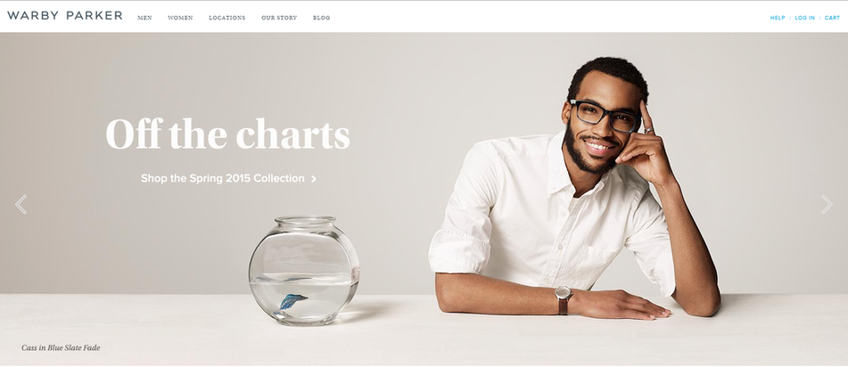 Principles of economics Warby Parker website