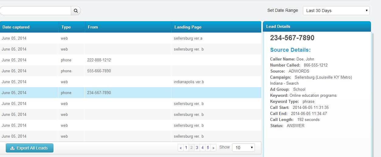 wordstream call tracking faq