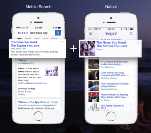 yahoo gemini native ad network