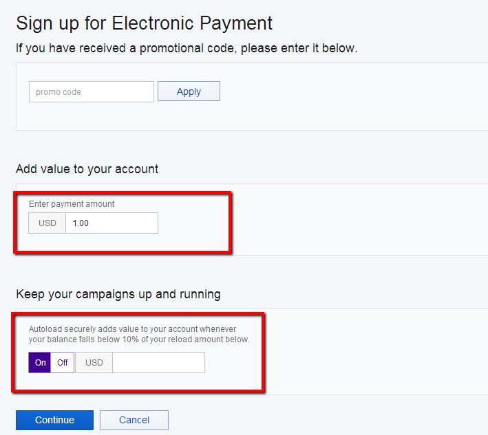 Yahoo Gemini Electronic Payment