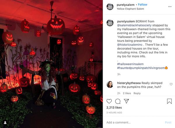 october marketing ideas facebook halloween post