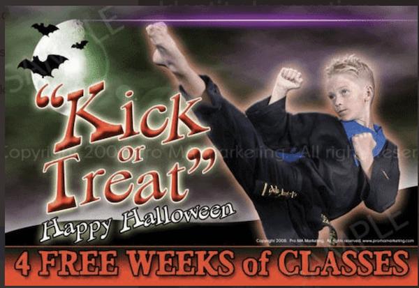 october marketing ideas: kick or treat campaign