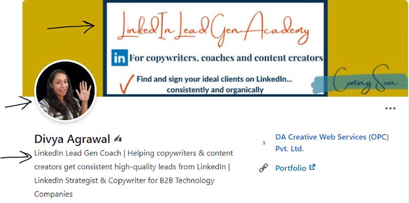 Generate leads linkedin profile