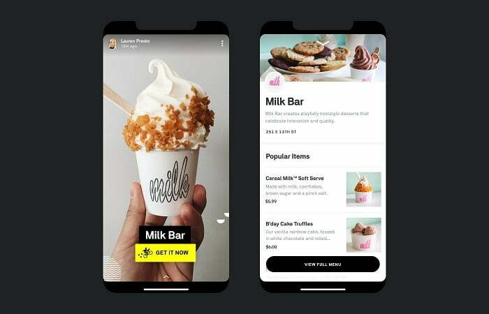 social media video marketing example from SnapChat