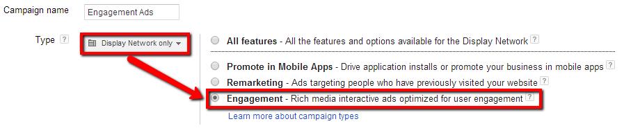 Google Engagement Ads