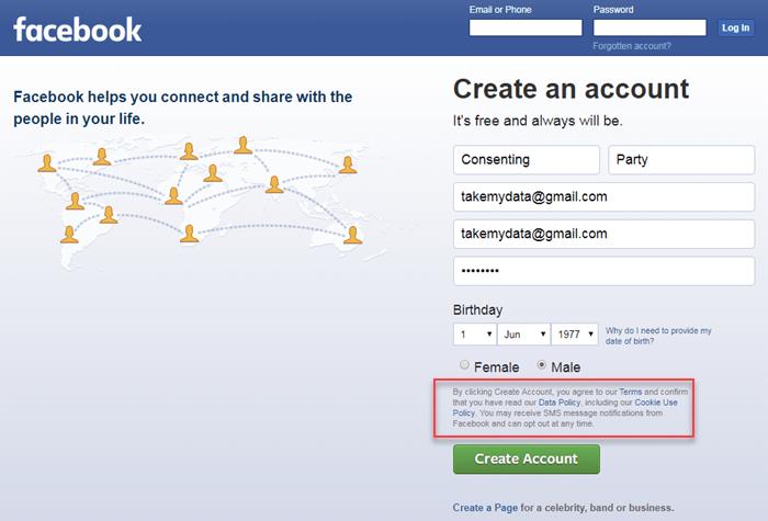 facebook consent example gdpr