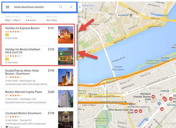 ads on google maps