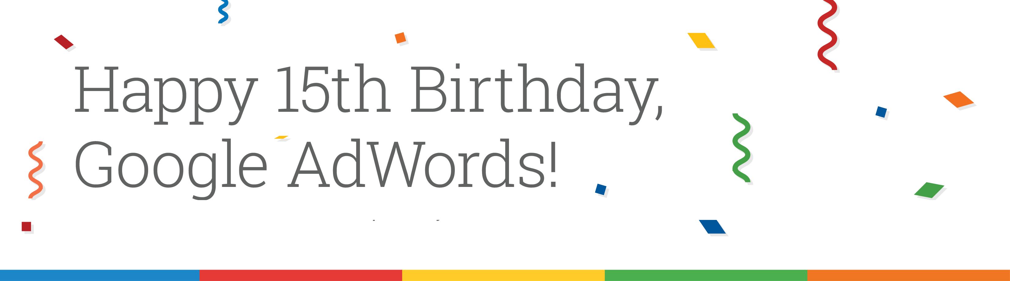 AdWords 15th Birthday infographic