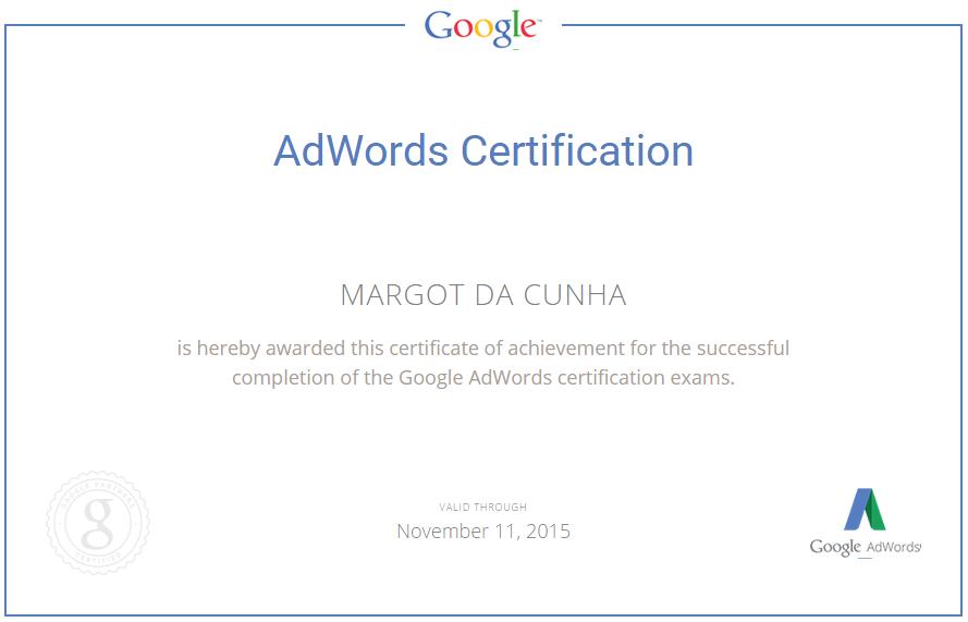 adwords certification