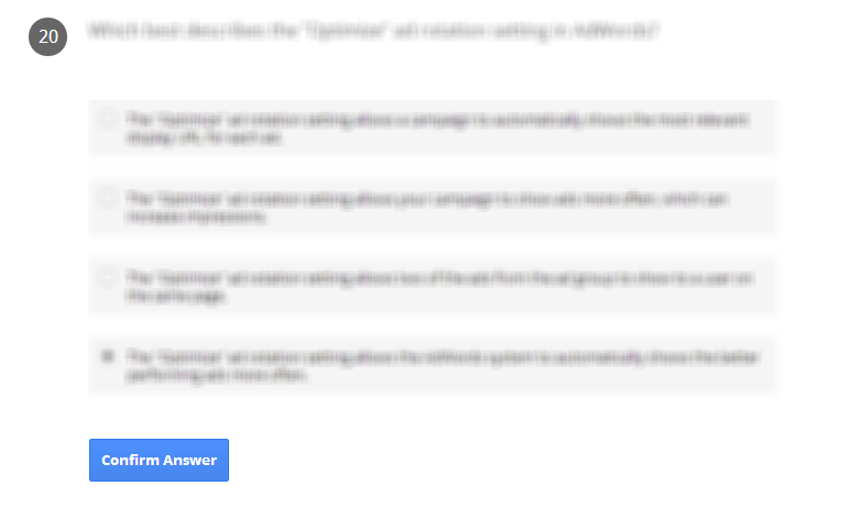 Google AdWords Exam Questions