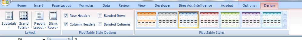 AdWords report Excel colors