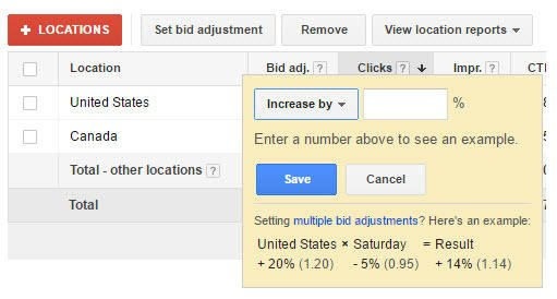 mobile bid adjustment