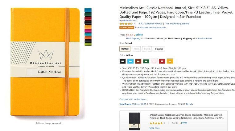 Amazon Best Seller example