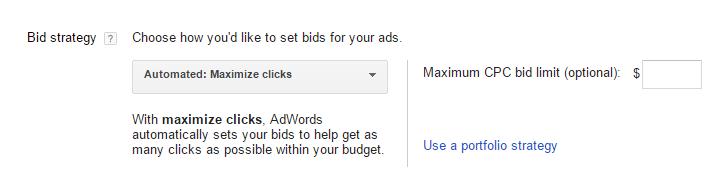 auto bidding setting