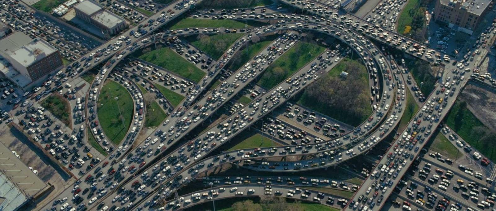 Benefits of content marketing Los Angeles traffic jam