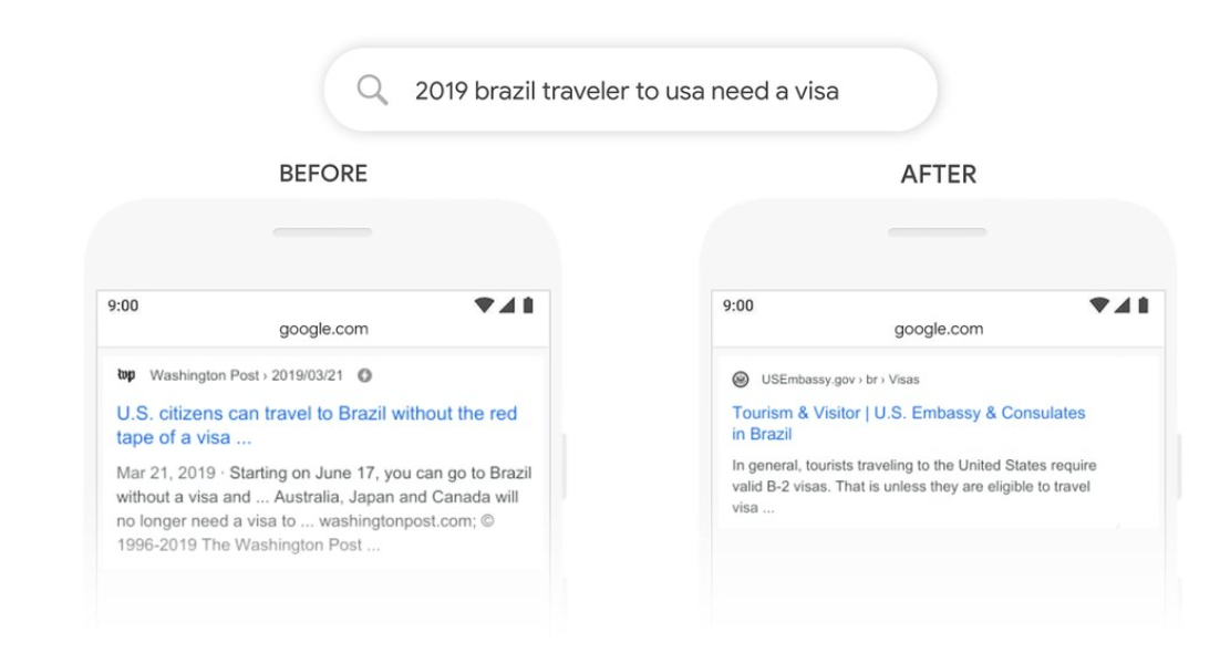 BERT Google Algorithm Update Brazil