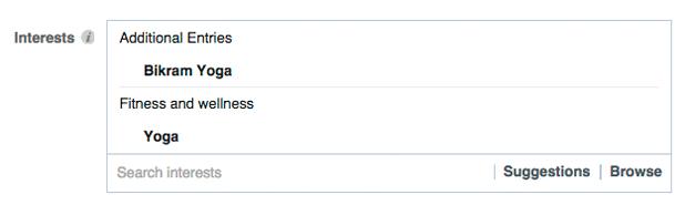 facebook interest targeting